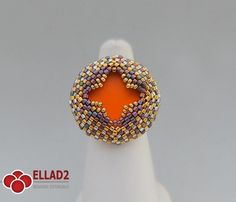 Make this beautiful peyote stitched ring. You can play with colors a lot...Beading Tutorial for Alisia Ring is very detailed, easy to follow, step by step