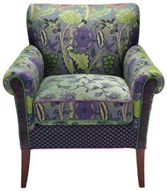 Aquamarine - handcrafted upholstered Salon chair -  Molly Rose Designs (Mary Lynn O'Shea)