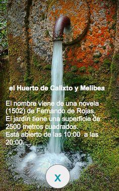 El Huerto de Calixto y Melibea