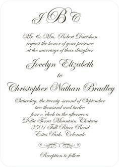Creative Calligraphy - Signature White Textured Wedding Invitations - simplyput by Ashley Woodman - Dark Gray - Gray : Front Creative Wedding Invitations, Wedding Stationary, Bridal Shower Invitations, Invites, Wedding Notes, Our Wedding, Dream Wedding, Wedding Ideas, Wedding Colors
