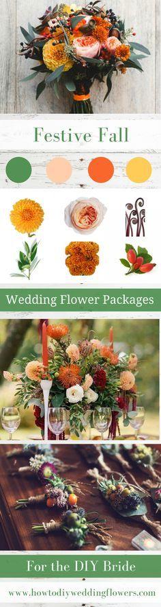 Wedding trends Fall Flower Packages trend Buy DIY Wedding Flowers Package online wholesale cost amaranthus rose crown 2018