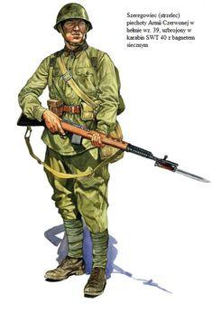 ARMATA ROSSA - Soldato semplice armato di carabina SWT 40 con baionetta