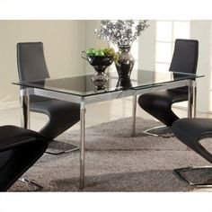 lowest price online on all chintaly tara extendable glass dining table in chrome taradtblk