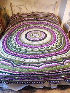 """Rings of Change"" free pattern on Ravelry Crochet Mandala Pattern, Crotchet Patterns, Afghan Crochet Patterns, Crochet Afghans, Crochet Blankets, Crochet Rings, Crochet Yarn, Crochet Stitches, Crochet Mandela"