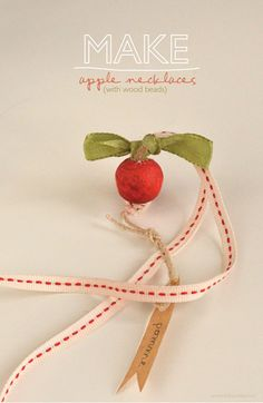 willowday: Apple Necklaces