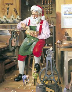 Tom Browning Hobby Shop Santa Cards
