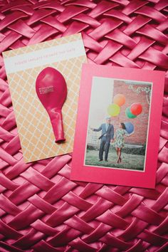 save the date with a balloon! | Kristyn Hogan #wedding