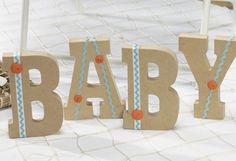 #Beach Baby Shower centerpiece