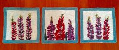 """Items similar to Hooked Rug Pattern - """"Maine lupines"""" - pattern - hooked rug trivets - choose from 3 original designs all hand drawn by Maine artist on Etsy Rug Patterns, Rug Hooking, My Etsy Shop, Rugs, Unique Jewelry, Handmade Gifts, Vintage, Farmhouse Rugs, Kid Craft Gifts"""