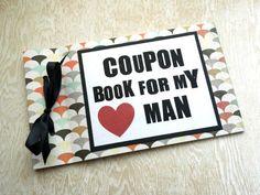 LOVE Coupon Book for Husband Boyfriend. by LittleBlueMarket