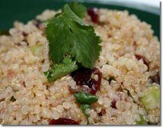 Pomegranate Cranberry Quinoa Salad