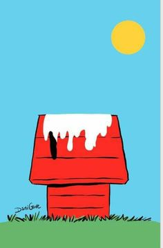 This Summer is too HOT! (ˆ◡ˆ) Snoopy melted on his Dog House.