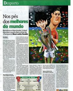 #Cartoon tambem de 2009 mas sempre actual. Publicado no semanario Sol. #cristianoronaldo #cr7 #messi #bynelsonsantos
