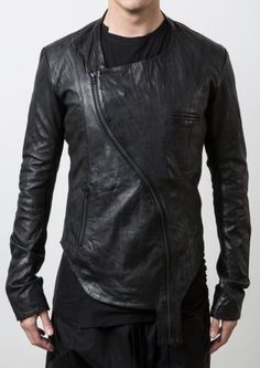 Visions of the Future // Delusion Lock & Key Leather Jacket Black