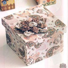 Artes da Lisandra: Caixa forrada com tecido, como fazer?