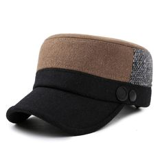 Unisex Woolen Polyester Military Hat Mixed Color Adjustable Outdoor Flat  Baseball Cap cc992824bc0
