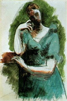Pablo Picasso - Woman standing leaning (Olga), 1919