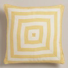 $22.99   One of my favorite discoveries at WorldMarket.com: Cornsilk Yellow Stripe Throw Pillow