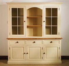 Mottisfont Painted Cadiz Dresser (White, Oak, Metal)