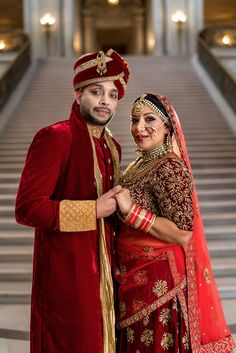 San-Francisco-City-Hall-Indian-Wedding-7 Couple Wedding Dress, Desi Wedding Dresses, Wedding Couple Photos, Wedding Couples, Indian Bridal Photos, Indian Wedding Poses, Indian Wedding Couple Photography, Wedding Stills, Bride Poses