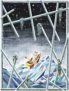 Bo Haglund: The Show Must Go On, 120 x 90cm, ink and gouache on paper, 2012, www.bohaglund.com