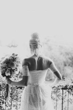 Bohemian Bride / Rhian & Jake's Chic Bohemian Wedding on The LANE / Brooke Adams Photography