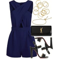 Style #8900 by vany-alvarado on Polyvore featuring moda, Christian Louboutin, Yves Saint Laurent and Michael Kors