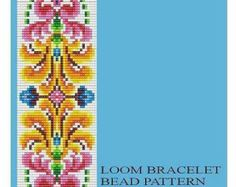 Bead Loom Vintage Motif 5, 6, 6A, 7 Multi-Color Bracelet Patterns PDF