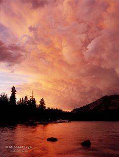 Sunset clouds over Tenaya Lake, Yosemite NP, CA, USA - Michael Frye (michaelfrye.com)