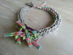 HERA-Summer Necklace Crochet necklace fabric por MerakibyStevie