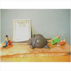 """1981 BEAUTIFUL RARE W/CERT!IFICATE! Elephant """"FILLER UP"""" Sculpture By RON LEE on eBid United States"""