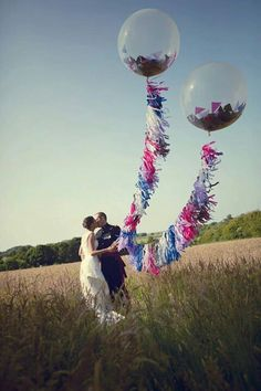 Wedding balloons giant field