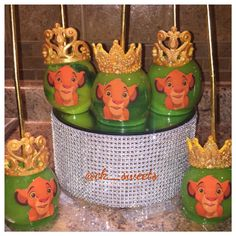 Lion King themed apples