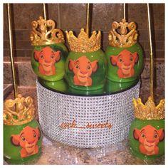 Lion King themed apples Lion King Theme, Lion King Party, Lion King Birthday, Baby Boy Birthday, 2nd Baby Showers, Baby Shower Parties, Baby Shower Themes, Baby Shower Decorations, Shower Ideas
