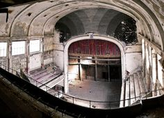Abandoned cinema-theater Varia, in Charleroi, Belgium