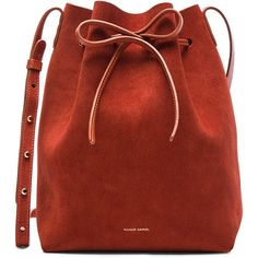 Mansur Gavriel Bucket Bag (3.630 DKK) ❤ liked on Polyvore featuring bags, handbags, shoulder bags, purses, accessories, purse shoulder bag, red bucket bag, red purse, red shoulder bag and red shoulder handbags