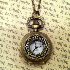 Brass Pocket Watch Necklace number 3