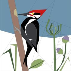 All about Quilting, Art and Pattern designs piliated woodpecker