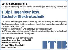Dipl.-Ingenieur bzw Bachelor Elektrotechnik m/w, gerne mit Erfahrung im Bereich Planung und Bauleitung