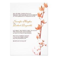 Customizable Floral Cotton Wedding Invitation - #wedding #stationery