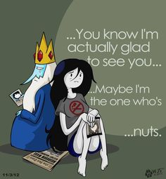 The saddest episode of Adventure Time ever... Marcy and Simon...  Poor Ice King. Poor Marceline..