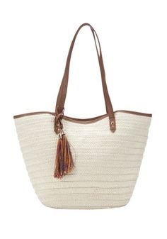 F&F Woven Straw Shopper Bag