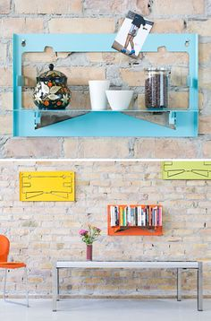 Shelve it! Flip and hang one day. Flip and store another. Colorful form follows function.
