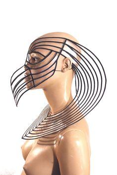 Horus Mask plague doctor mask with beak masquerade steampunk mask