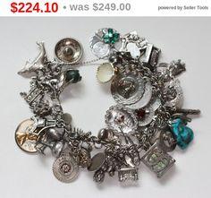 CIJ Sale Souvenir Sterling Charm Bracelet 47 by PastSplendors