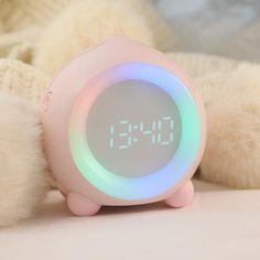 Small Alarm Clock, Light Alarm Clock, Alarm Clocks, Purple Night Lights, Bedroom Clocks, Instruções Origami, Desktop Clock, Flower Curtain, Jewel Colors