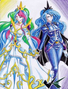 MLP Princess celestia and princess luna