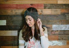 Bow headband turban headband head wrap fall winter by Shanionie