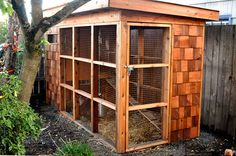 Cedar shake sided chicken coup | Country Living