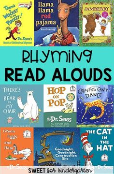 Check out these 15 read aloud books to help teach your students rhyming skills they need. These are great for Preschool, Pre-K, Kindergarten or First Grade. Rhyming Kindergarten, Rhyming Activities, Preschool Books, Kindergarten Reading, Teaching Reading, Book Activities, Guided Reading, Kindergarten Centers, Reading Lessons